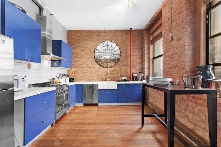 complete gourmet kitchen
