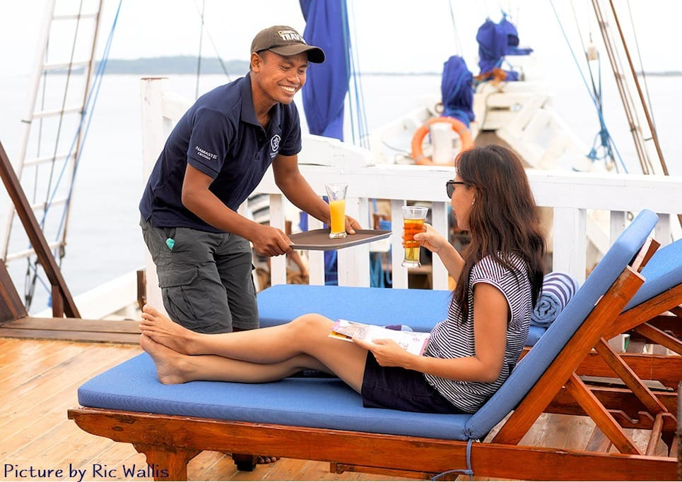 Be pampered by our crew.