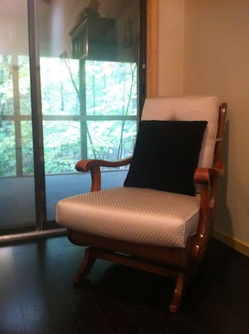 This vintage rocker is the ultimate reading chair!