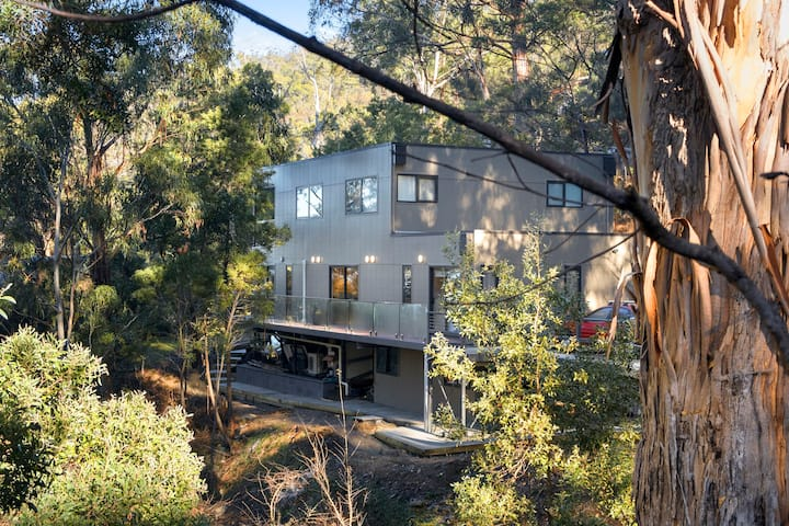 Contemporary home nestled in bush -15 mins to city