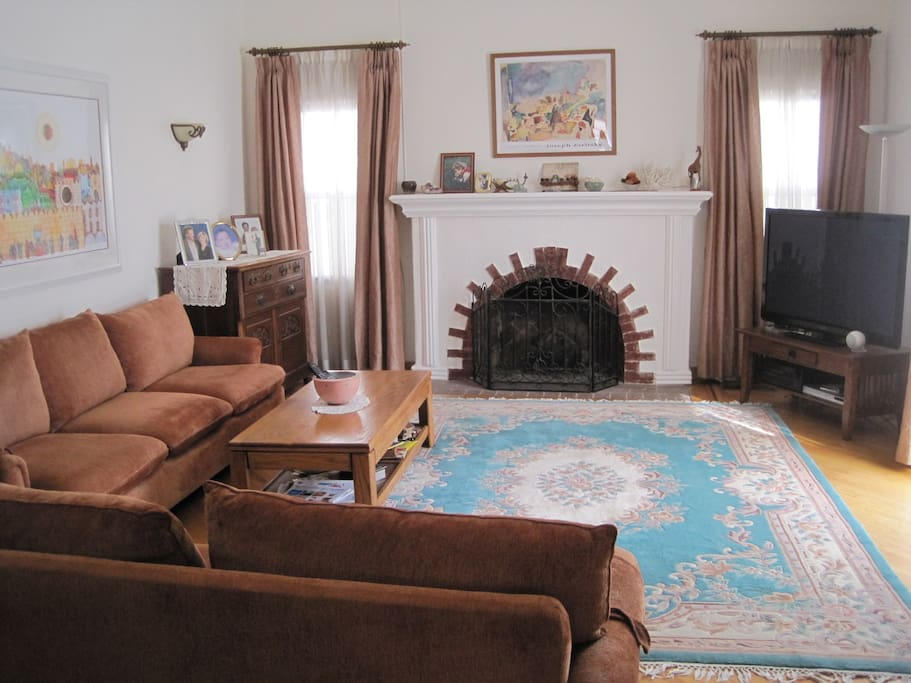 Our comfortable, large living room