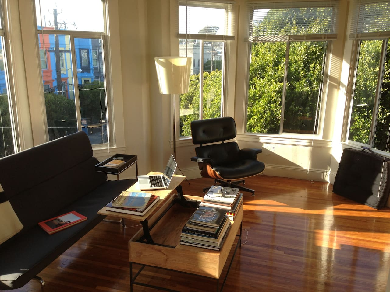 Sunny, open work and living area!