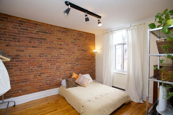 One Beautiful Bricked Plateau Room! - Montreal - Pis