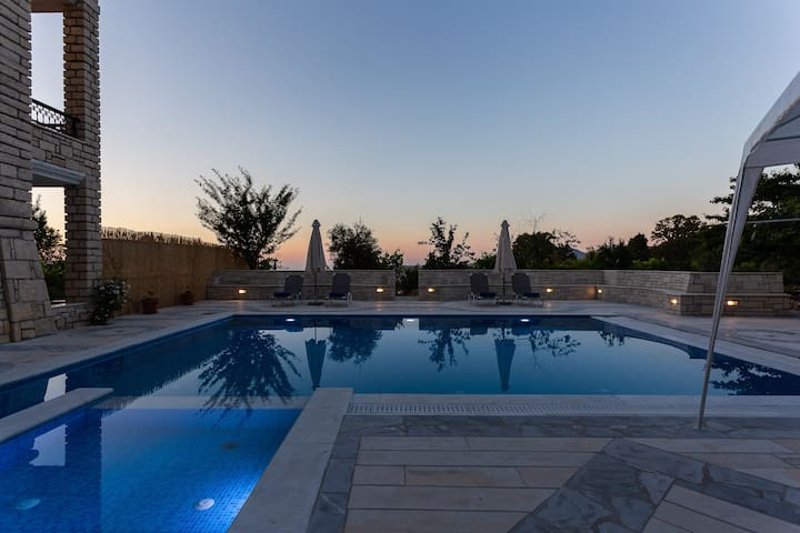 Private stone built villa with a huge pool!