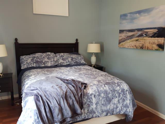 Master bedroom.  Queen bed