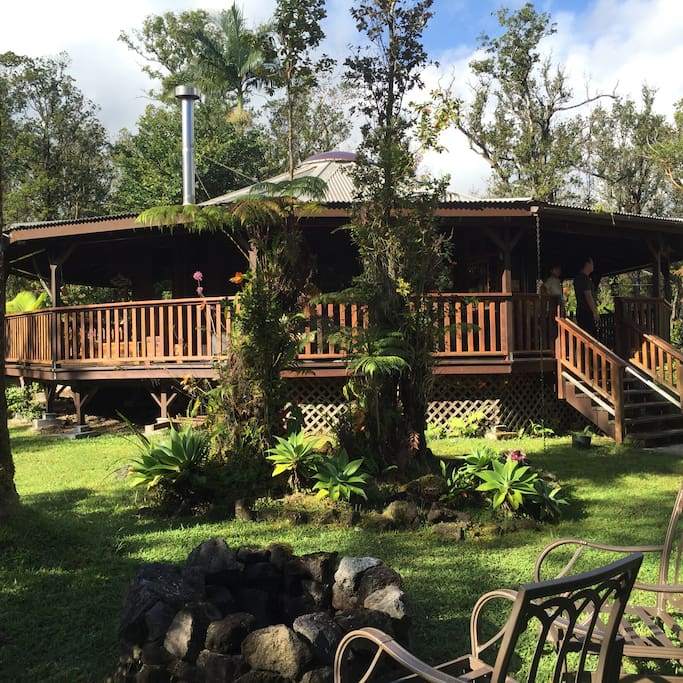 The big island rainforest cottage cabins for rent in for Big island cabins