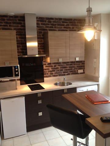 Studio meublé  23m² TB équipé et décoré avec goût - Reims - Apartment