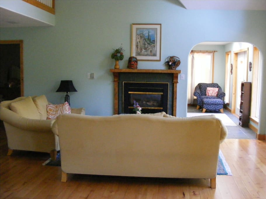 Living room looking into sun room