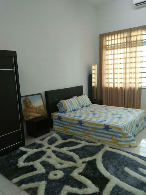 Master bedroom with air condition and bathroom