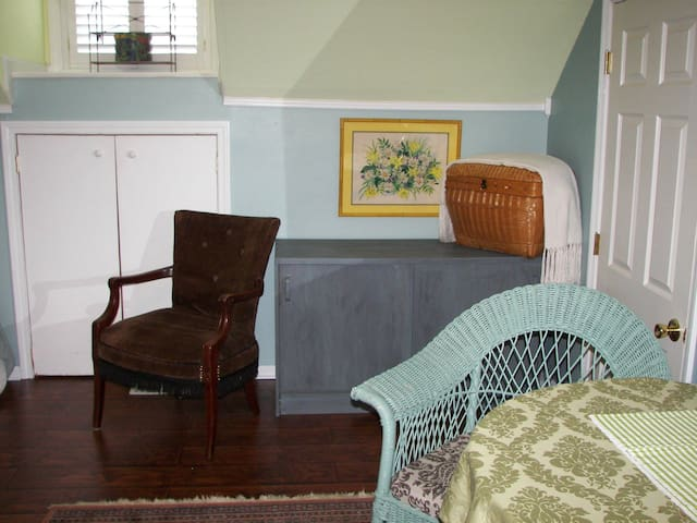 The far end of the guest space, bed alcove is to the left.