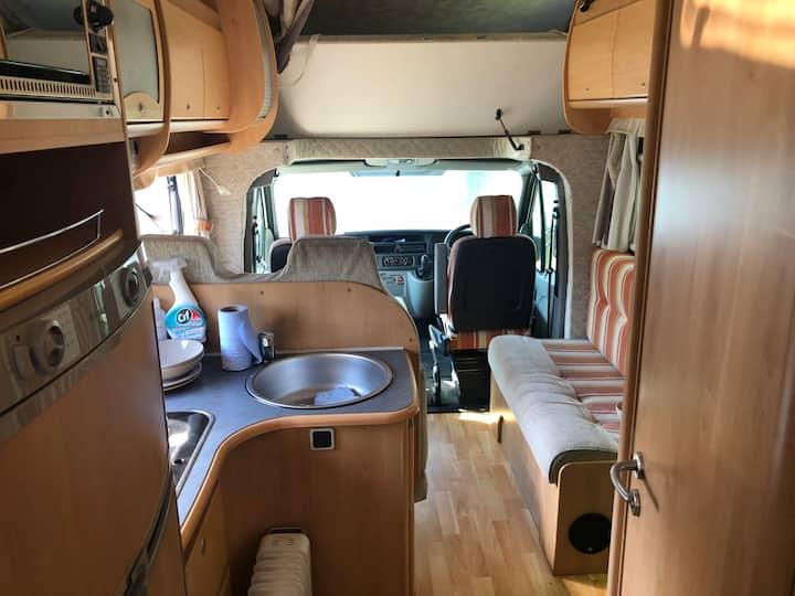 Motorhome rental Uk traveling, excludes insurance