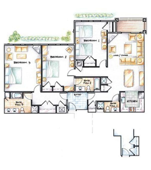 Okemo Luxury Penthouse Condo - Adams House - Floor Plan