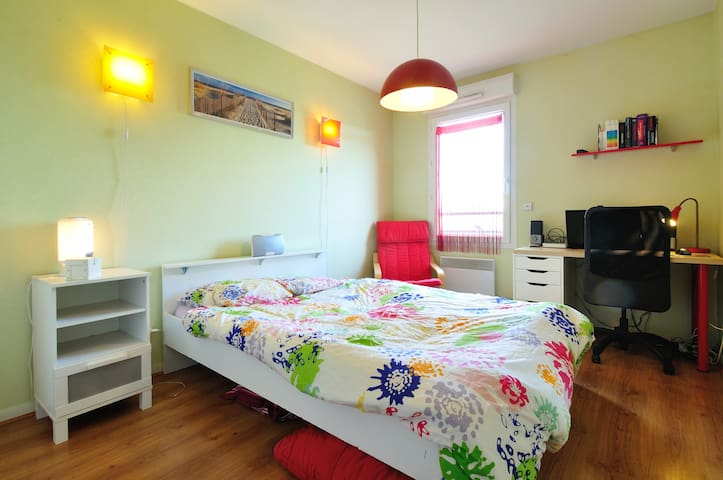 15 min Lyon center Bed Cosy Color - Francheville - Apartment