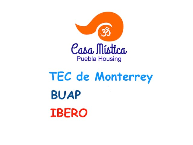 Great location for international students TEC de Monterrey, BUAP, IBERO