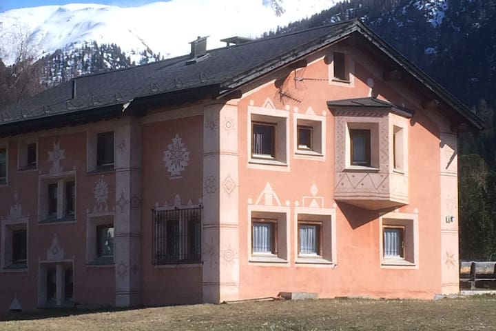Charming two bedrooms flat in Engadin - La Punt-Chamues-ch
