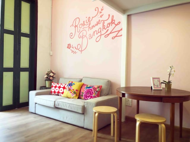 Rosie house 15 mins walk to grand palace/会说中文
