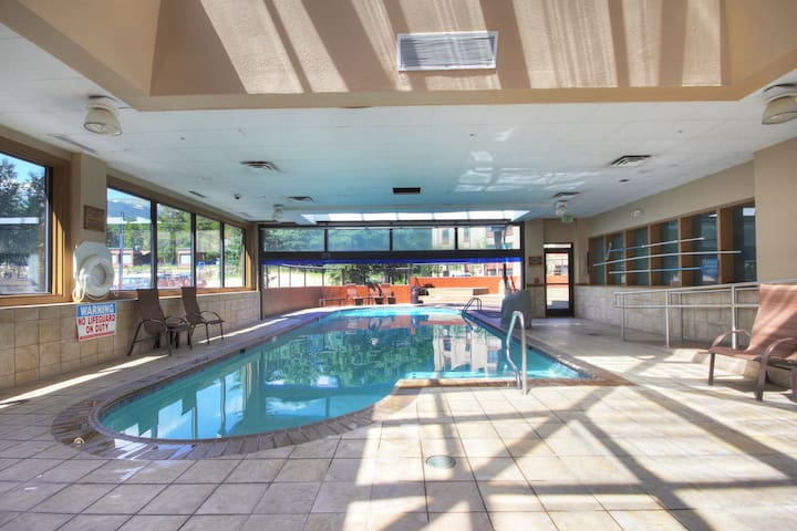 Dive into the lovely indoor/outdoor pool!