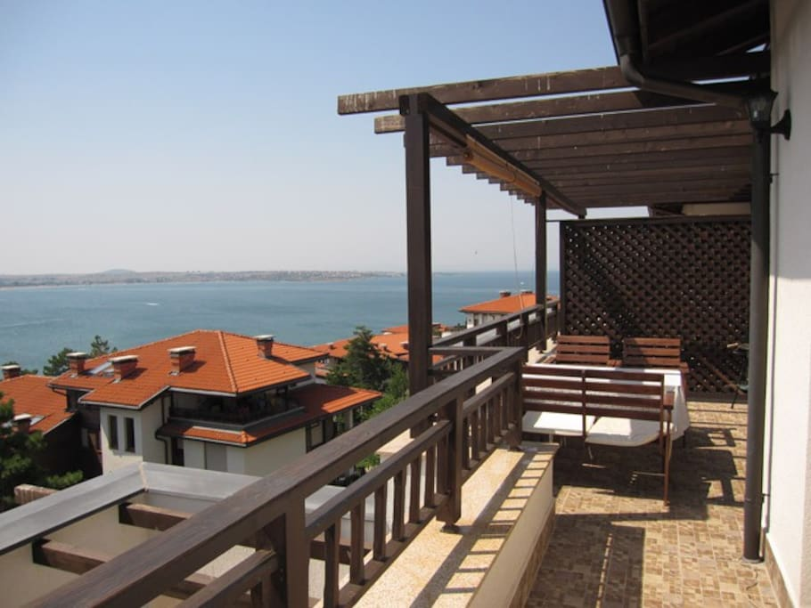 View from the terrace....