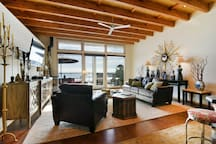 The open floor plan is perfect for entertaining friends and family