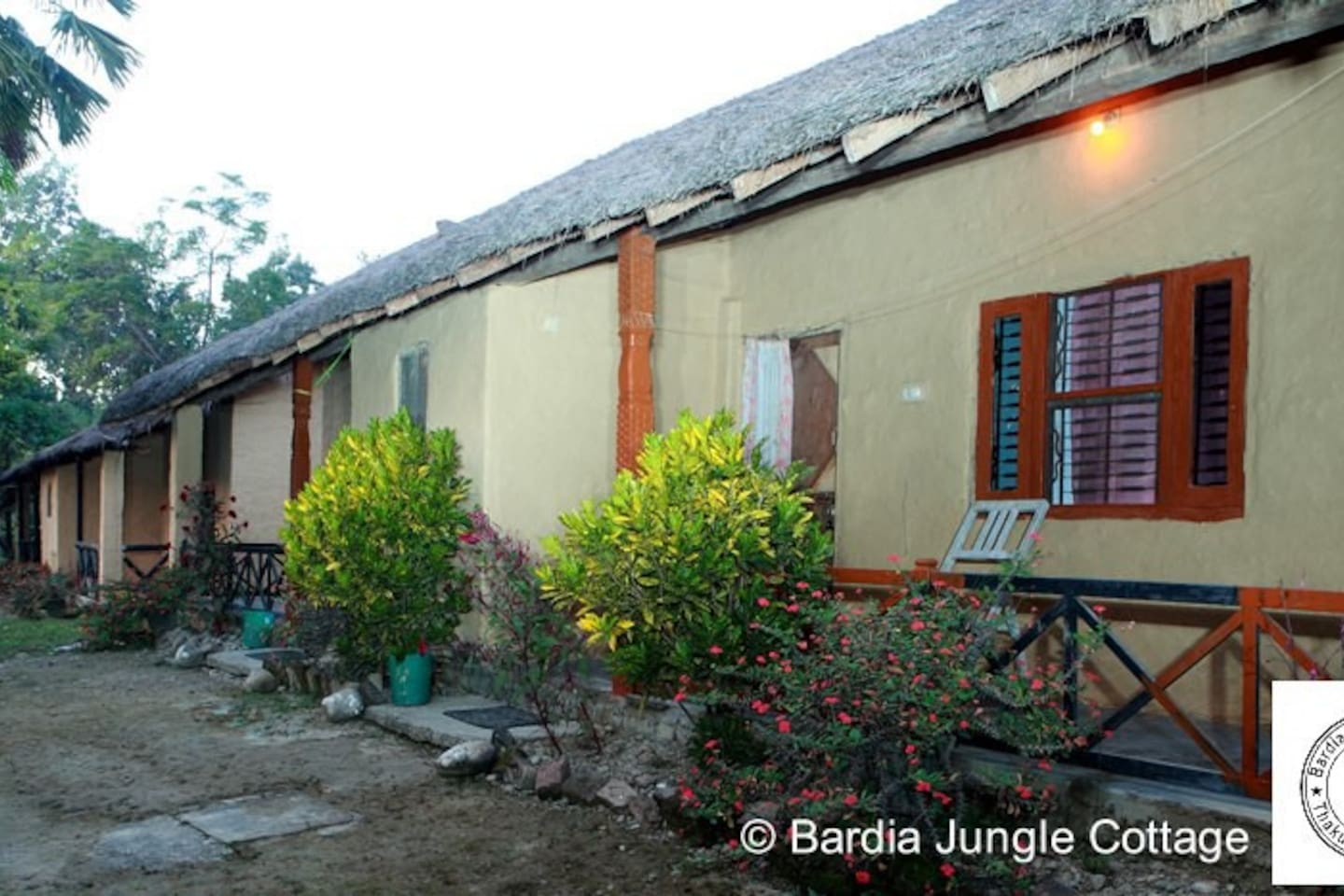 Nature & Tharu Style Cottage with private bathroom and shower