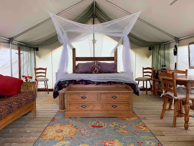 Remote*Oceanfront*Safari Tent*Private (Wildflower)