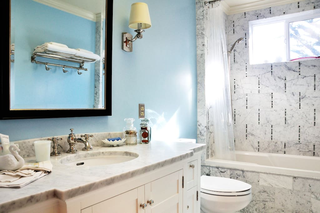 Clean, bright and beautiful bathroom