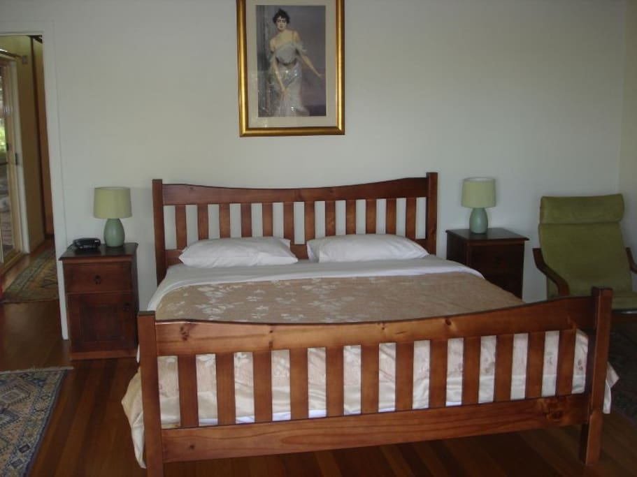 king size bed in separate bedroom