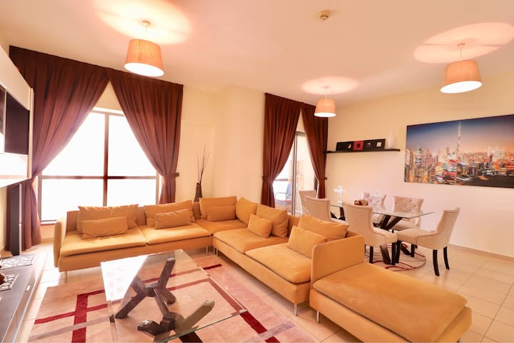 Close to the beach 3BR Apt at JBR, up to 8 guests