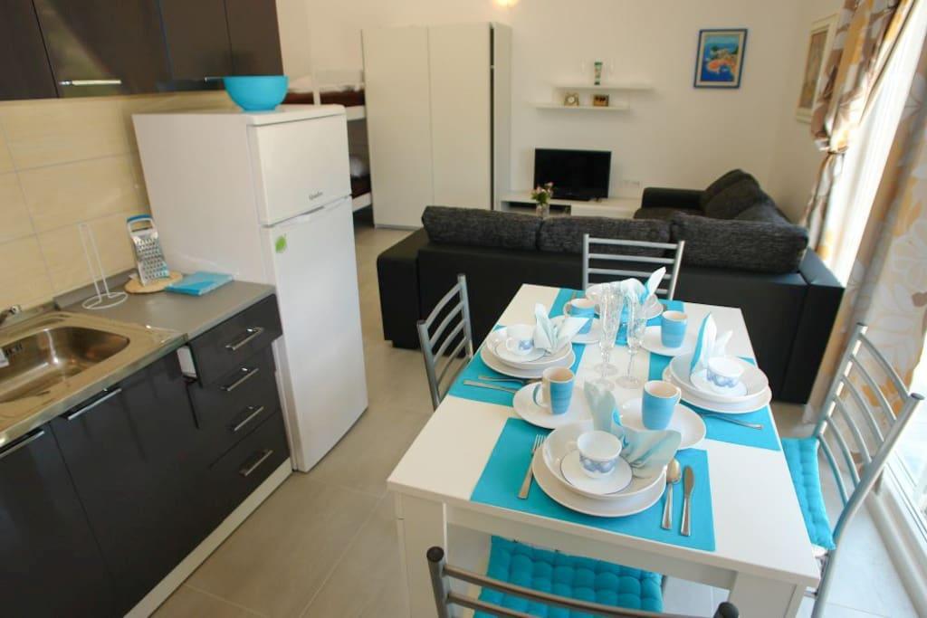 Pohled z kuchyňky