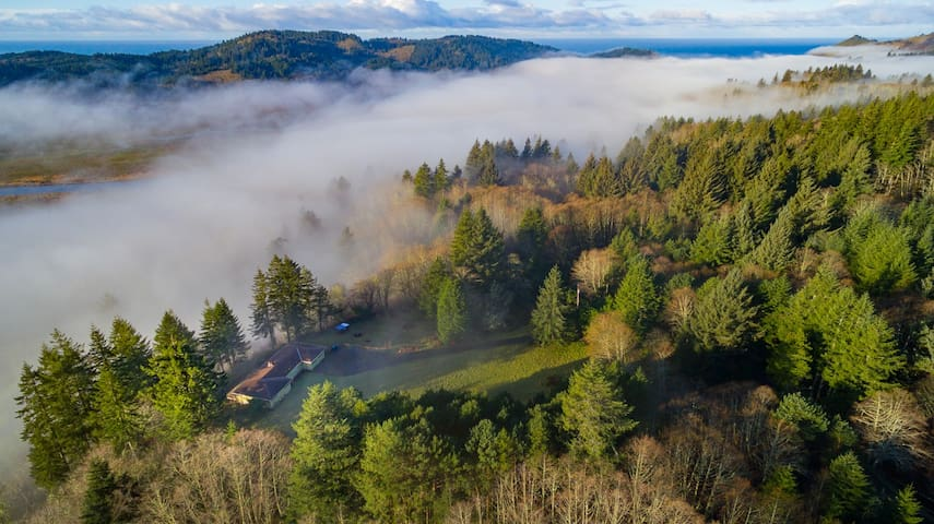Property from above the fog