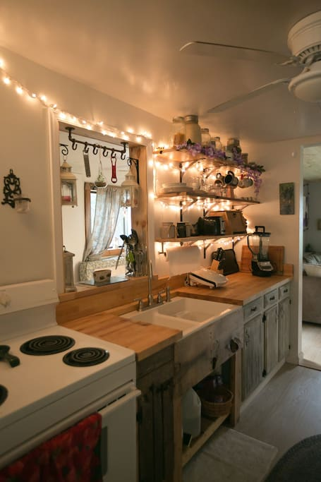 Updated yet rustic kitchen