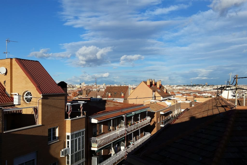 The Views of the rooftops of Madrid