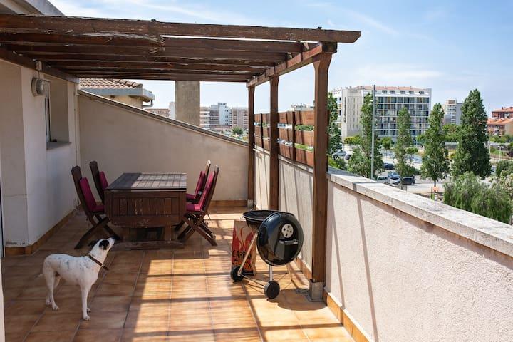Ático con amplias terrazas, ideal para descansar