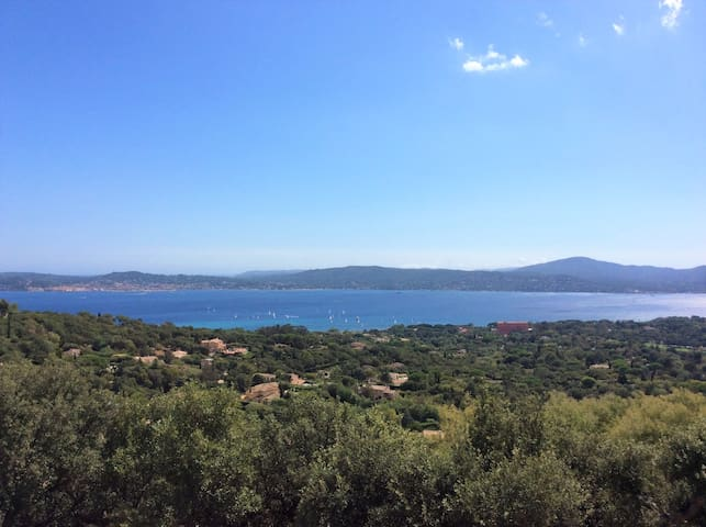 Spectacular seaview over entire Golfe de St Tropez