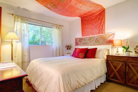 Cute room in quiet SB Canyon. - Santa Barbara - Haus