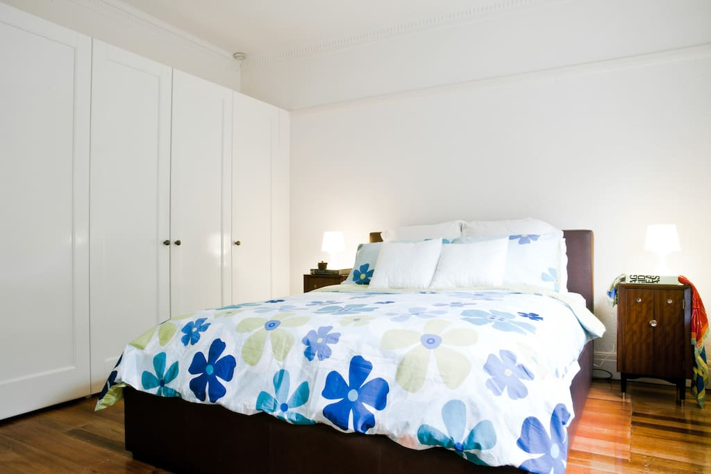 Master bedroom: loads of wardrobe space, queen size bed, all-new, high quality linen