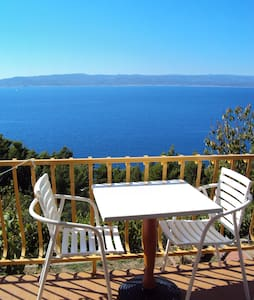 Room for 2 with terrace and sea view - Brela - Bed & Breakfast