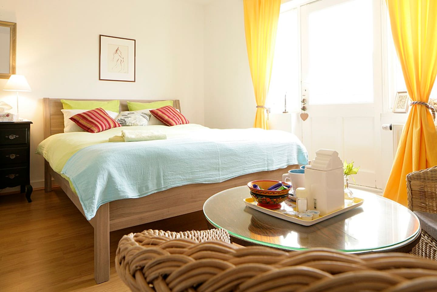 Your room and a spacious bed :)