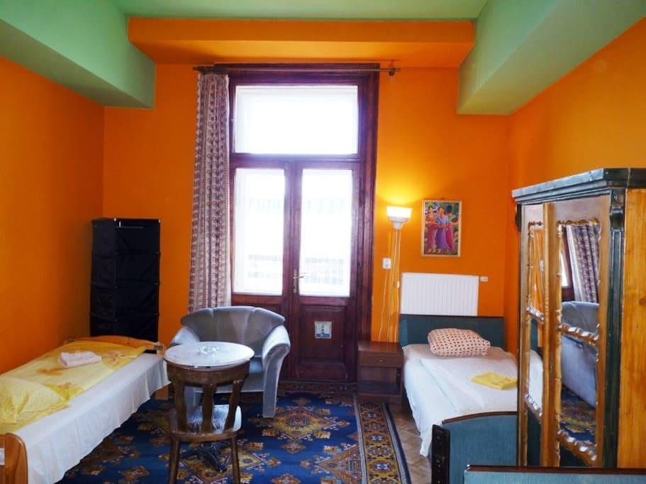 Bedroom with balcony