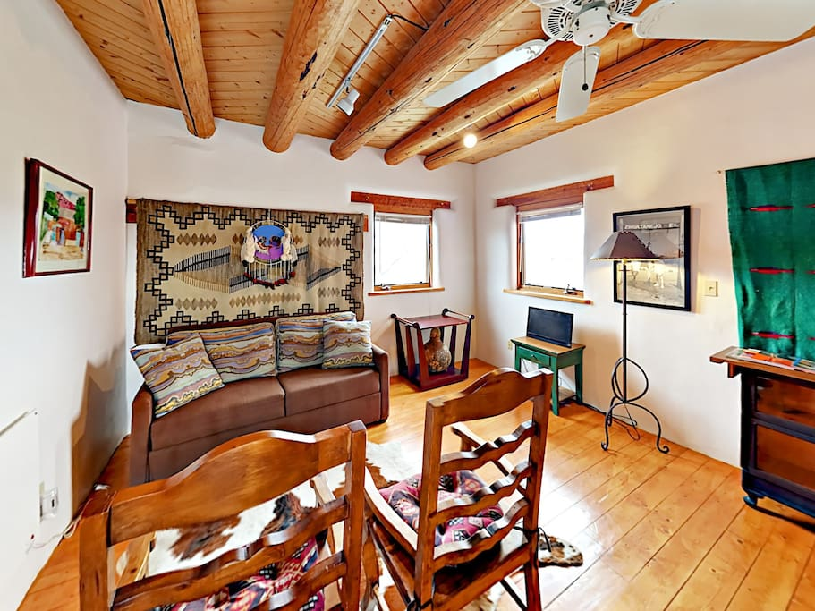 Stylish southwestern décor creates a cozy, welcoming ambiance.