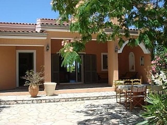 Villa Myrtos,the artist's house.