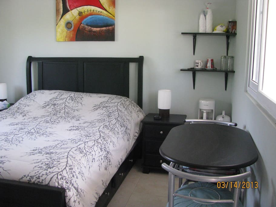 A current picture of the bedroom