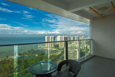 老街、海底世界附近高层海景双标房 - Beihai - Lägenhet