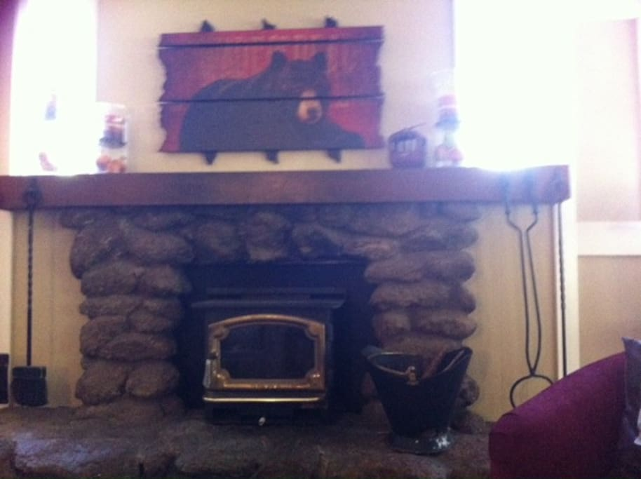 A working fireplace