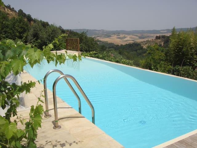 Infinity pool with view toward Pisa - Piscine à debordement