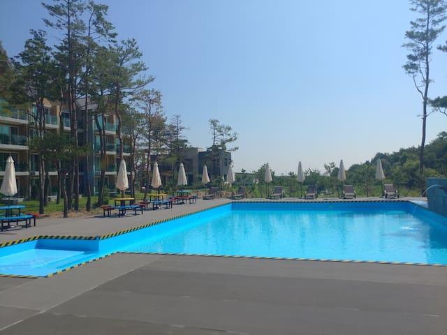 울산바위하이디 전망좋은 A동 1층 (호텔급 침구, 개별항균세탁, 개별 바베큐, 야외수영장)