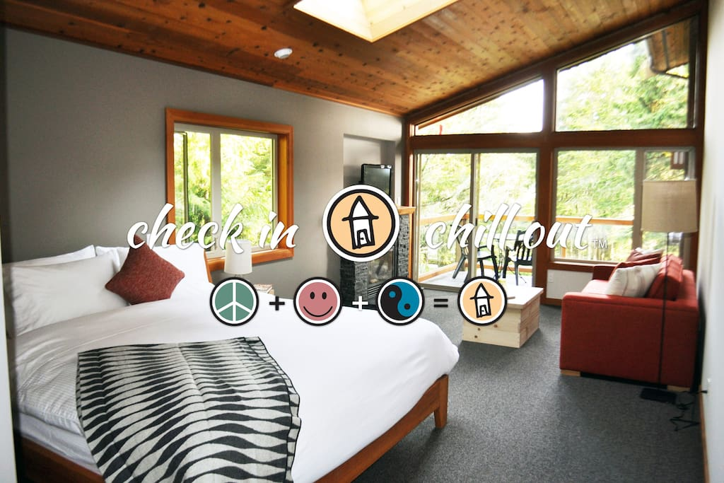 1 bedroom deluxe lodge suite the cabins suite degli for Cabine in affitto a victoria bc