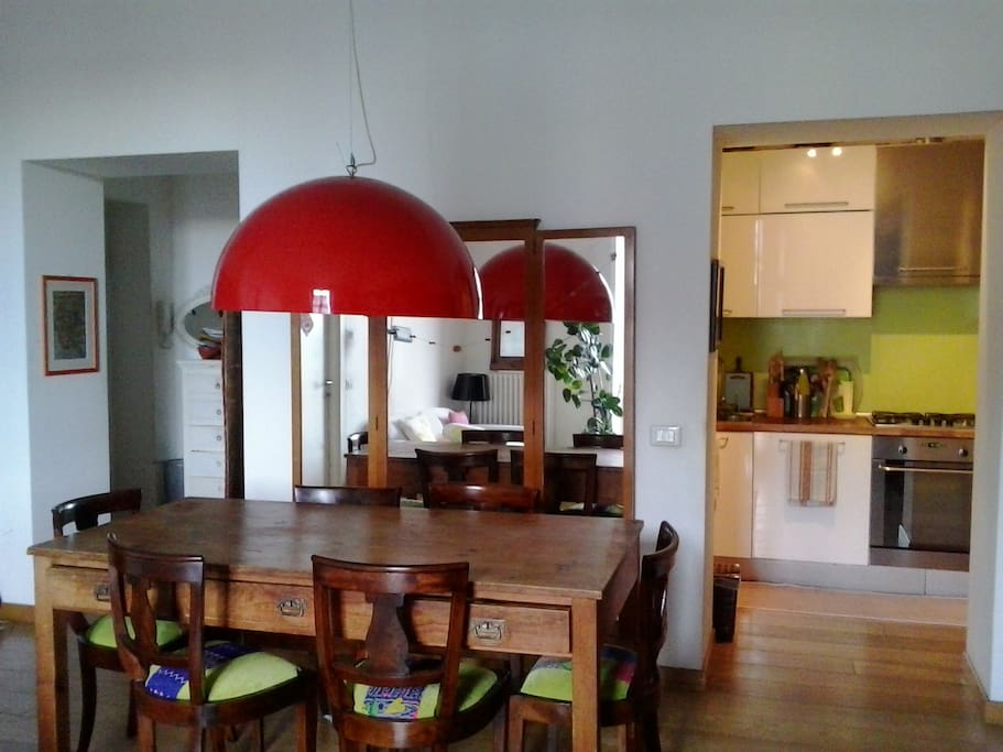 The diningroom with kitchen corner