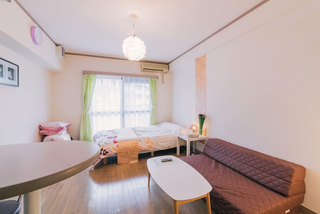 福岡の中心市街地にある、新しくて清潔で明るいお部屋です!  Located in the central city of Fukuoka, it is new and clean and bright rooms!  후쿠오카의 중심 시가지에있는 새롭고 깨끗하고 밝은 방입니다!