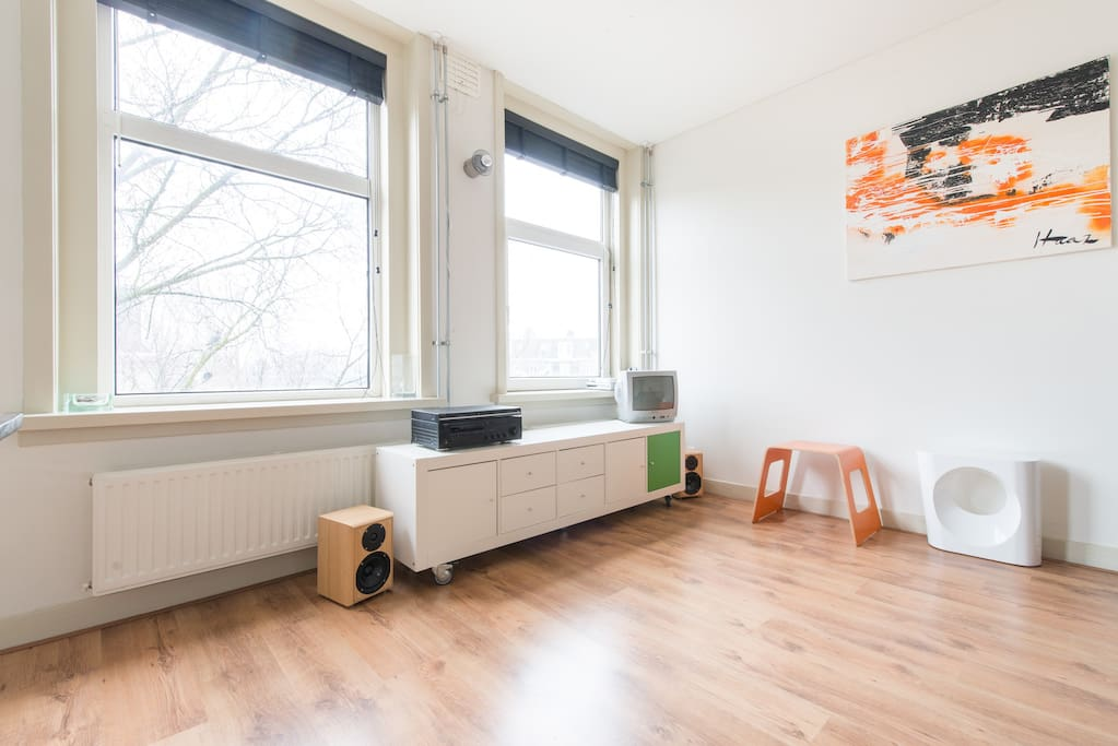 Apartment is located very close to the city center and only 100m from the Westerpark